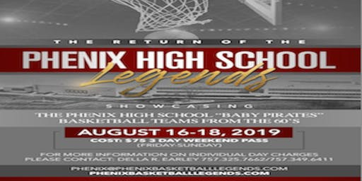 "Remembering James H. ""Blue"" Earley and The Phenix H. S. Basketball Legends                      August 16-18, 2019"