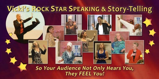 Rock Star Speaking and Story-telling: Your Story Matters! Day-Long Workshop (Autumn 2019)