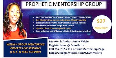 Prophetic Mentoring Group Registration