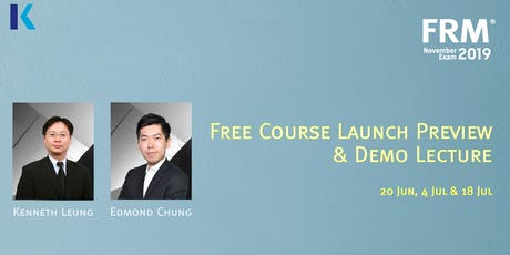 FRM Course Preview & Demo Lecture tickets