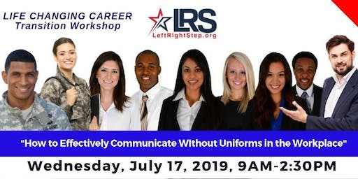 Career Transition Workshop for Veterans & Military Families by LeftRightStep.org - July 2019