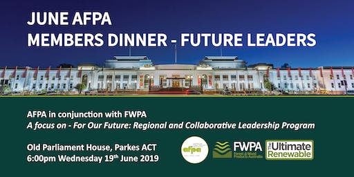 June AFPA Members Dinner - Future Leaders