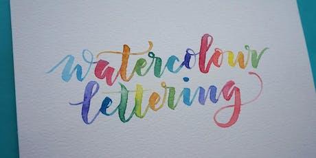 Watercolour Lettering Workshop tickets