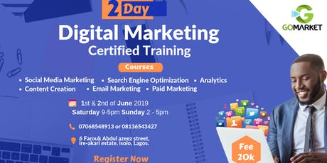 GO MARKET's Digital Marketing Certified Training tickets