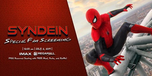 Syndein Presents A Spider-Man Far From Home Midnight Blocked Fan Screening