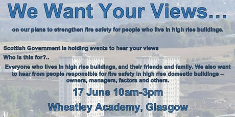 High Rise Fire Safety Consultation Engagement Event,  West tickets