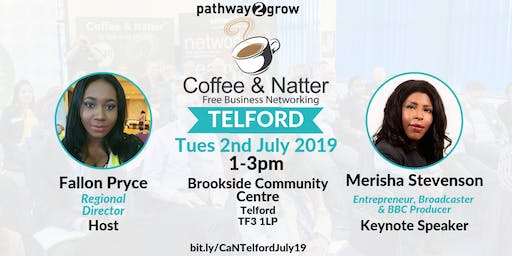 Telford Coffee & Natter - Free Business Networking Tue 2nd July 2019