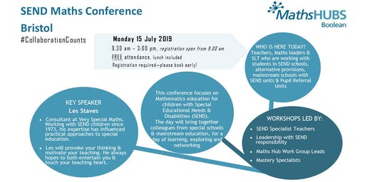 SEND Maths Conference - Bristol