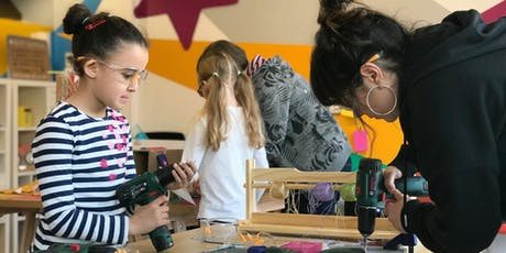 Intro to Woodworking with Girls with Drills (7-to 11-years-old) tickets