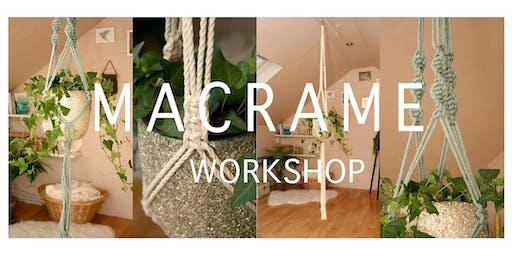 Macrame Plant Hanger Workshop - For Beginners