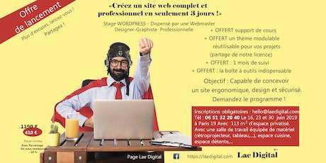 Créer un site web professionnel (3jours) billets