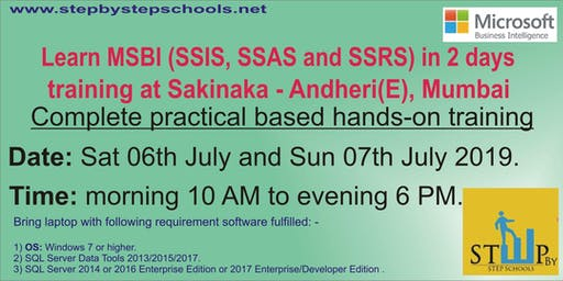 Learn Hands-on MSBI (SSIS, SSAS and SSRS) in 2 days