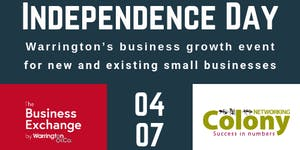 INDEPENDENCE DAY Warrington's business growth event...