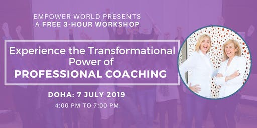 Experience the Transformational Power of Professional Coaching