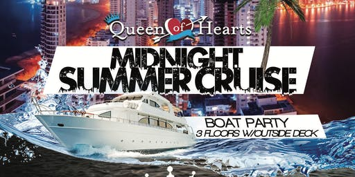 A Midnight Summer Cruise :: QUEEN OF HEARTS : PIER 36 :: NYC : BOAT KINGZ