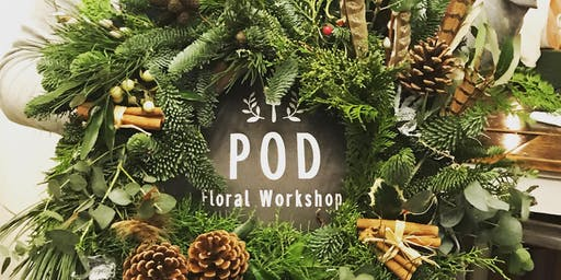 Christmas Door Wreath Making
