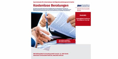 Kostenlose Beratungen für ausbildende Betriebe mit Migrationshintergrund