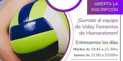 VOLEY EN HOMENETMEN, INSCRIBITE!!!