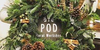 Christmas Door Wreath Making