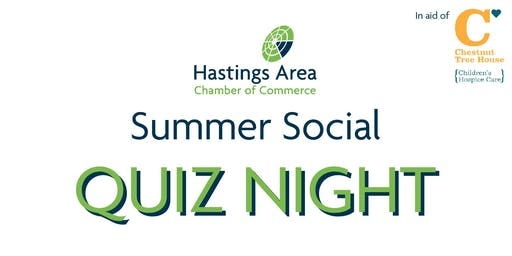 Hastings Chamber Summer Social - Charity Quiz Night for Chestnut Tree House