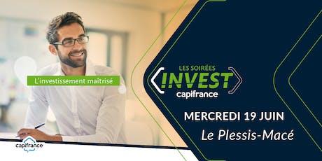 """Soirée Invest  Capifrance - """"Les clés pour réduire vos impôts"""" billets"""