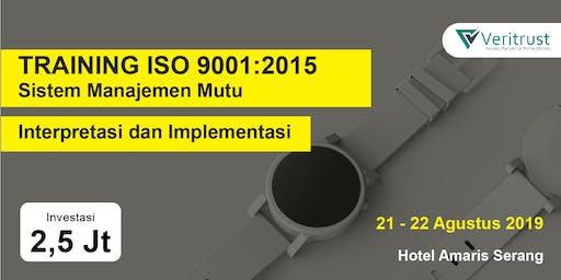TRAINING ISO 9001:2015 - Interpretasi dan Implementasi (Paid Event)