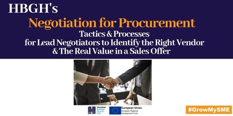 Negotiation for Procurement (Grimsby) tickets