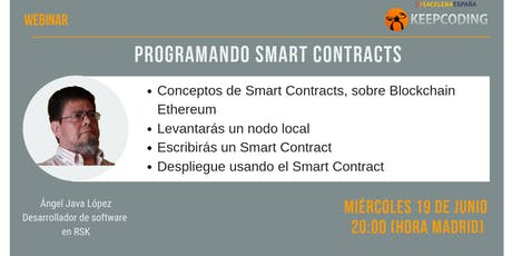 Webinar: Conceptos de Smart Contracts, sobre blockchain Ethereum entradas
