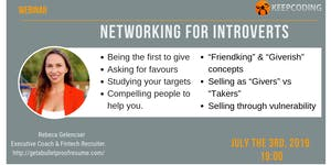 Networking for Introverts by Rebeca Gelencser