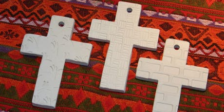 Kids Claytime: Textured Cross Wall Hanging 6/29 tickets