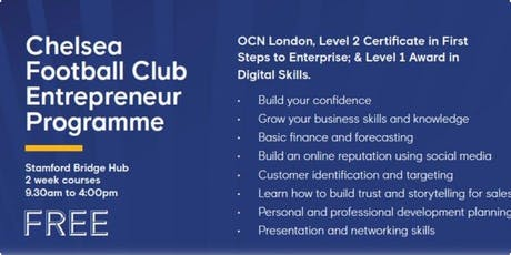 Chelsea Football Club Entrepreneur Programme tickets