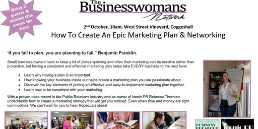 How To Create An Epic Marketing Plan & Networking Coggeshall Event