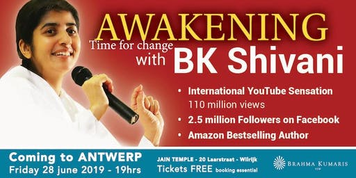 BK Shivani - AWAKENING - Time for change - Antwerp