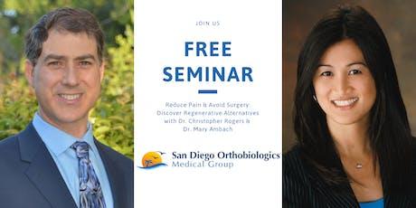 Reduce Pain & Avoid Surgery: Discover Regenerative Alternatives Oct 26 tickets