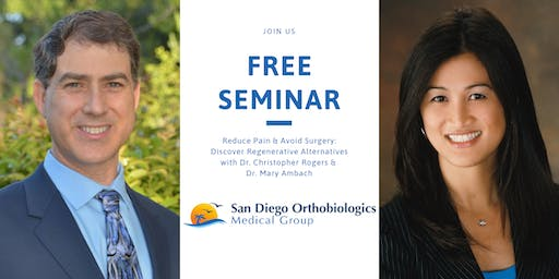 Reduce Pain & Avoid Surgery: Discover Regenerative Alternatives Oct 26