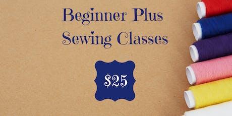 Beginner Plus Sewing Class tickets