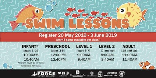 Ellsworth AFB Swim Lessons for June