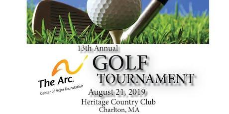 13th Annual Golf Tournament tickets
