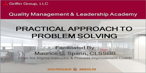 Practical Approach To Problem Solving Workshop