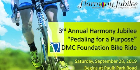 """Harmony Jubilee """"Pedaling for a Purpose""""  Foundation Bike Ride  tickets"""