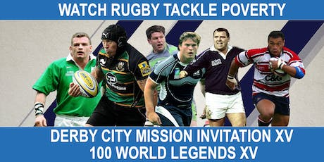 Derby City Mission vs. 100 World Legends Charity Rugby Match tickets