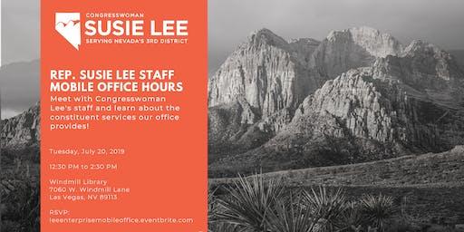 Rep. Susie Lee Staff Mobile Office Hours - Enterprise