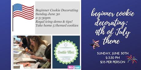 Cookie Decorating: Beginner Class tickets