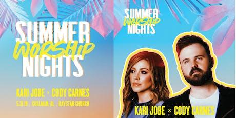 Kari Jobe & Cody Carnes - Summer Worship Night - World Vision Volunteer - Michigan City, IN tickets