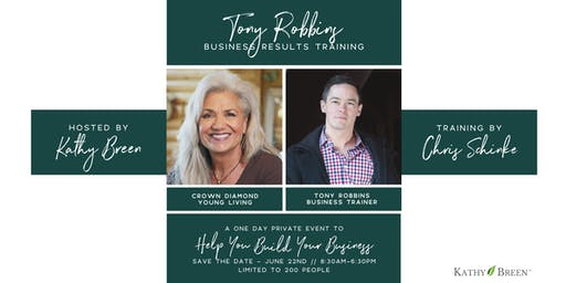 Tony Robbins Private Business Training Event - Save the Date
