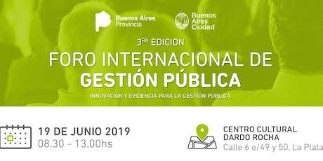 Foro Internacional de Gestión Pública 2019 entradas