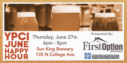 YPCI: June Happy Hour at Sun King Brewery, pres. by First Option Mortgage