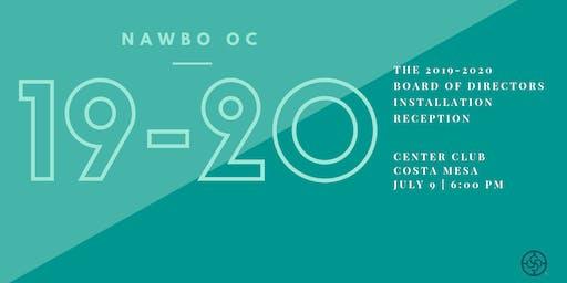 2019-2020 NAWBO OC Board of Directors Installation Reception