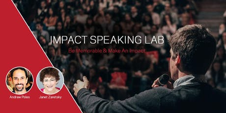 Impact Speaking Lab: Personal attention to improve your public speaking  tickets