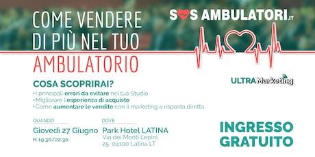 SOS Ambulatori: Come vendere di più nella tua struttura medica. biglietti